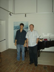 Pedro Ferro with Paul Crossley
