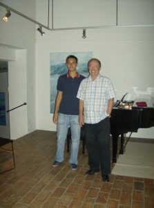Paul Crossley with Rafael Azevedo