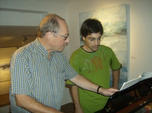 Paul Crossley discussing Ravel with António Cebola