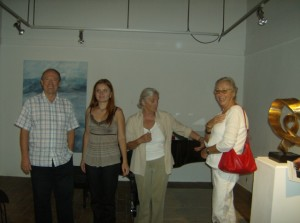 Paul Crossley with Olesya Kyba, Marie Huber and Dorris Carp